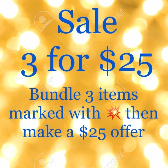 Other - Closet sale! 3 for $25!